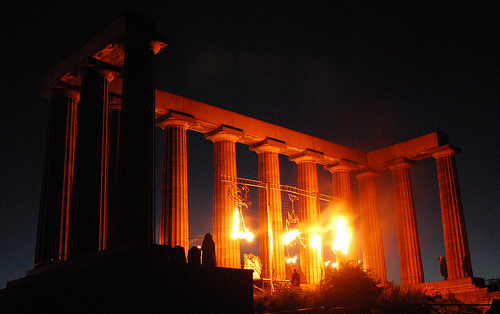 Beltane on Carlton Hill - fiery start, Edinburgh     *Debs* @ flickr