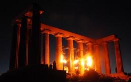Beltane on Carlton Hill - fiery start, Edinburgh     *Debs* @ flickr