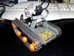 Send your eye anywhere you want with this Spy Tank fitted with a camera. It is powered by 8 AA Batteries and the whole set up is controlled by Bluetooth connection, picture courtesy of http://gadgetophilia.com/top-10-spy-gadgets-for-the-real-spy/
