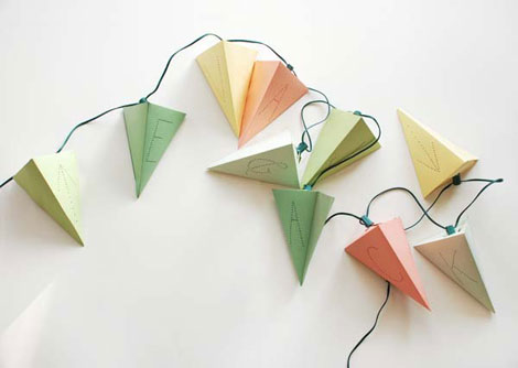 Lighted paper garland lushlee.com