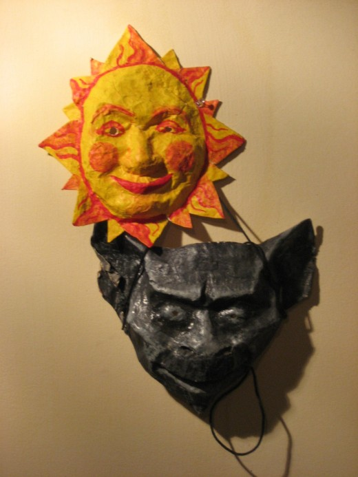 do-it-yourself masks: paper mache, cloth, and acrylic.