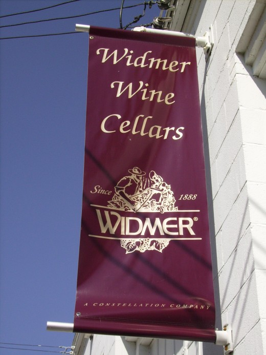 Widmer Wine Cellars located at the South end of Canandaigua Lake near Naples, New York