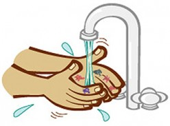 Washing your hands.
