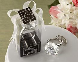 Glamorous Diamond Engagement Ring Keychain Favor
