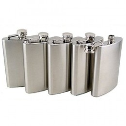 5 piece stainless steel hip flasks