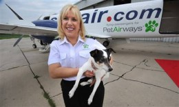 Alysa Binder, co-owner of Pet Airways, with her dog Zoe.  Photo courtesy of MSN.com.