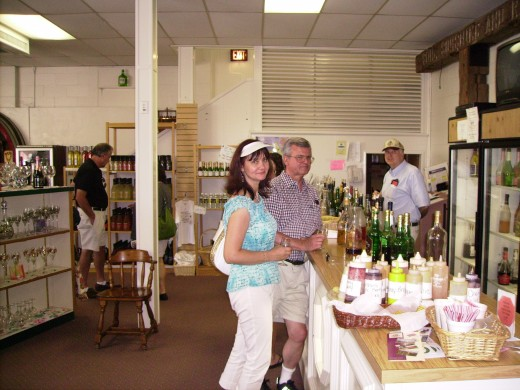 My wife and I in the Wine Tasting Room of the Widmer Winery outside of Naples, New York.