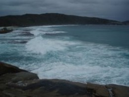For Brindah and her fellow travellers the Australian shore looks hostile and unwelcoming.