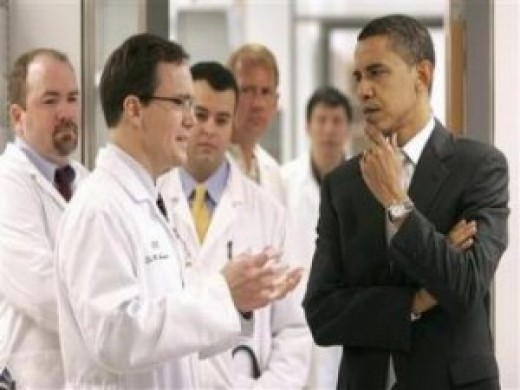 Obama talking with Doctors regarding Hospitals, Doctors and the pending Health-Care Bill