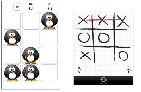 Penguin Whacker and Tic-Tac-Toe