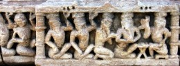 Guru and his disciples. 'Torana'(Arch),12th century.Vadnagar,Gujarat.