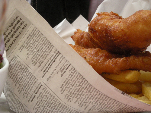 We ate our fish and chips in newspaper and used old newspaper for toilet tissue.