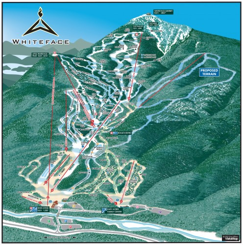 Diagram of trails at Whiteface
