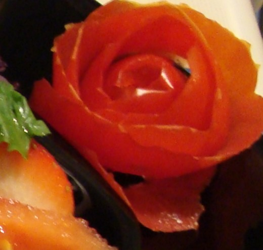 Tomato Rose for garnish