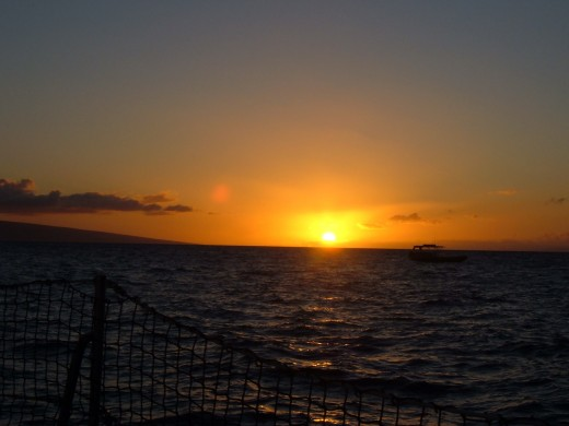 This photo was taken on an evening sailboat cruise off the coast of Maui.