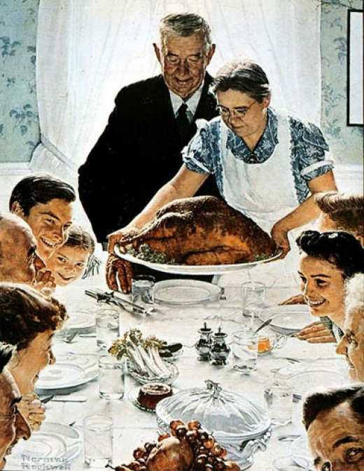 "Norman Rockwell  ""'Freedom From Want"""