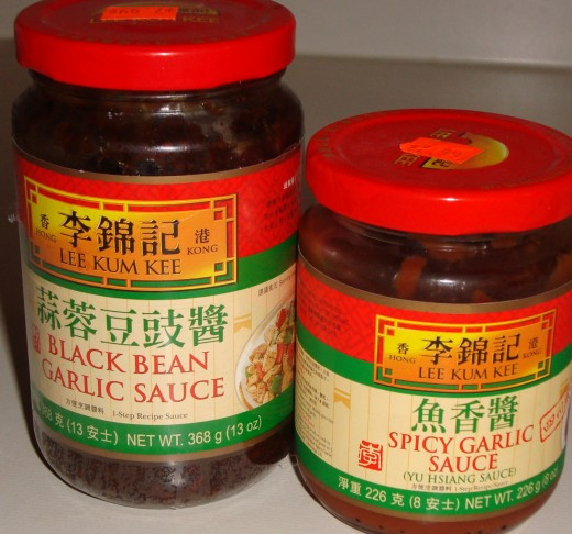 Black Bean Garlic Sauce and Spicy Garlic Sauce