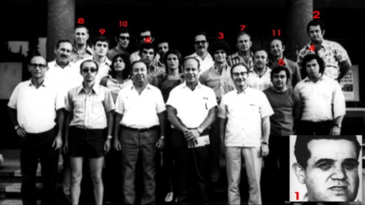 11 MEMBERS OF THE ISRAELI OLYMPIC TEAM MURDERED BY THE PLO IN MUNICH 1972