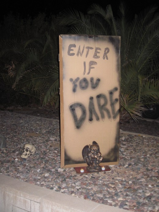 An Intimidating Halloween Sign