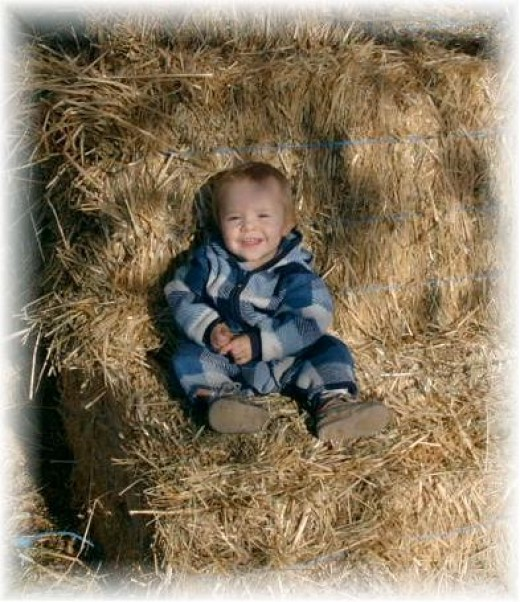 Baby on Hay