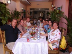 All of us dining in Havana