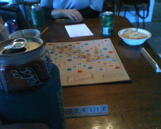 Scrabble can incorporate several vices including but not limited to beer and salsa...