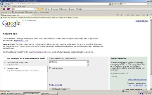 Step 2 (note gold bar across top of screen, click on this and select the option to allow the content).