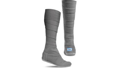 Toms shoes now also come in boots! These are 100% cotton and are a wrap boot with a velcro close coming in fun colors.