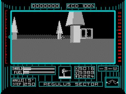 Excellent 3D rendering in Dark Side on the ZX Spectrum