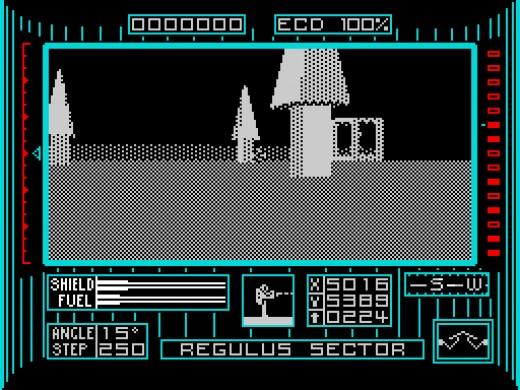 Excellent 3D rendering in Dark Side on the ZX Spectrum