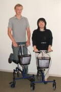 comfortable new design for crutches - rolleraid