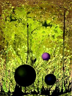 SPHERES EN L'AIR, Robert Kernodle, fluidism original painting
