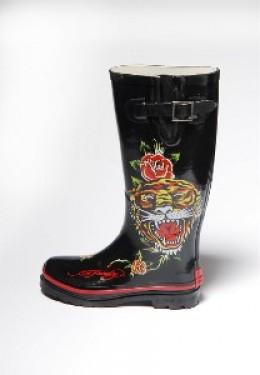 Exotic Ed Hardy rain boots