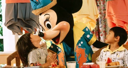 Thanksgiving dinner with Mickey