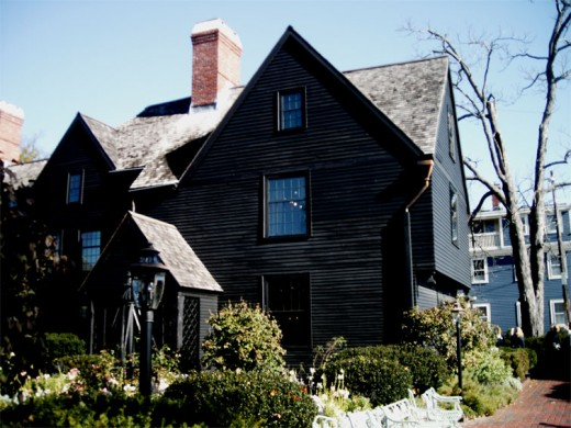 The House of Seven Gables Sits Behind Its Garden.