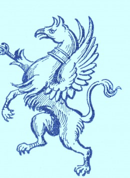 The Griffin or Gryphon, had the body of a lion, the head of an eagle.