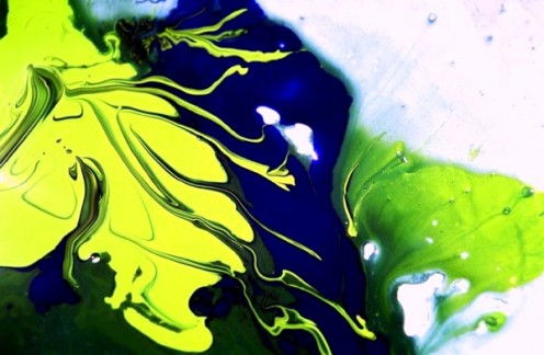 ASPECT 185, Robert Kernodle, scan of 35mm slide of fluid dynamic painting event, 2007