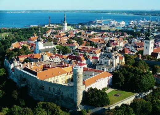 The old town of tallinn, the house of the parliament