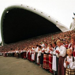 Estonia's biggest event, The Song Festival, bringing together more than a 100 000 people from all around Estonia