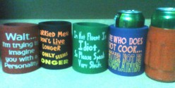 Buy Can Coolers AKA Cozies Or Double Wide Pop Sweaters