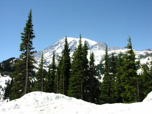 Lots of snow still in July.