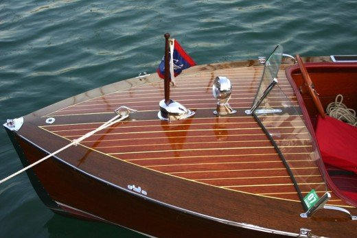 Dame is a 1941 ChrisCraft Runabout owned by John Wayman and John Garr.