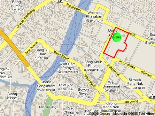 Thanks to Google Maps - The Elephant Museum is located within the grounds of Dusit Palace.
