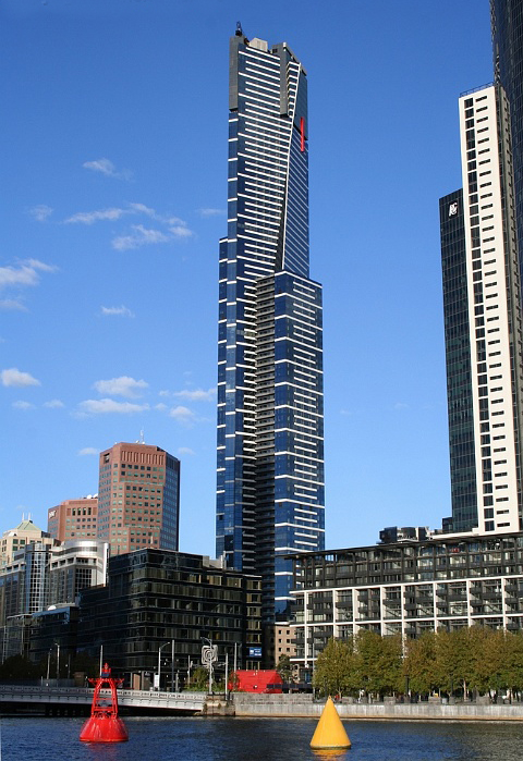 Eureka towers the tallest building in Melbourne