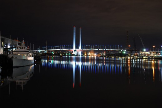 The Bolte Bridge over the Yarra River.