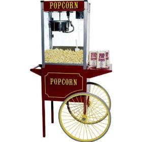 Old fashioned popcorn machine