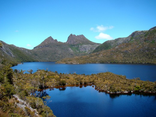Cradle Mountain overlooking Dove Lake