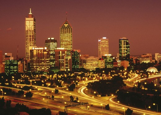 Perth a night view
