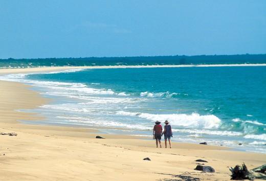 Walk on Casuarina Beach one of the vast beaches around Darwin
