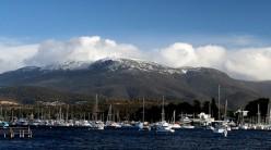 Mount Wellington towers over Hobart